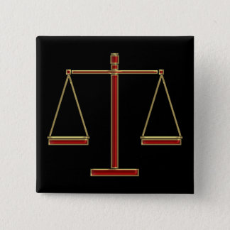 Elegant Red Scales of Justice | Law Button