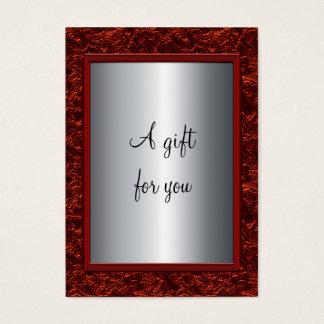 Elegant Red Amp Silver Christmas Gift Certificate Gi