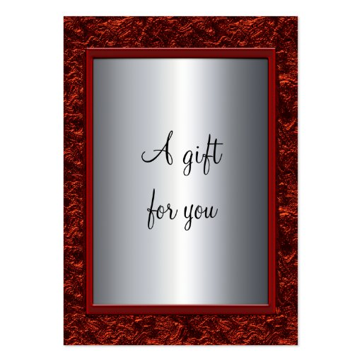 Elegant Red & Silver Christmas Gift Certificate Gi Business Card Template