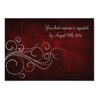 Elegant Red Silver Wedding Personalized Announcement