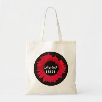 Elegant Red Sunflower Wedding B09Z Tote Bag