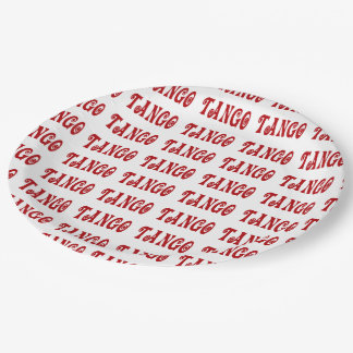 Elegant Red Tango Paper Plate