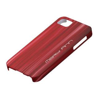 Elegant Red Texture Custom Name iPhone 5 Case