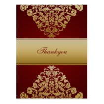 Elegant red Thank You Cards