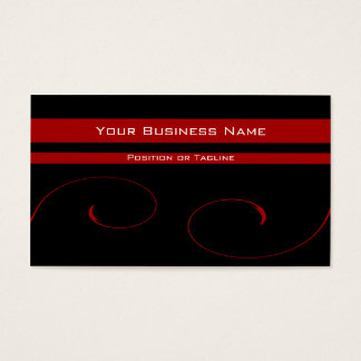 Elegant Red Vines Business Card
