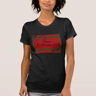 Elegant Red with Black embossed Swirls Christmas Tshirt