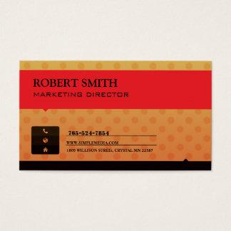 Elegant Red Yellow Business Card Design