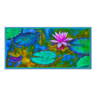 Elegant Reflections Namaste Yoga Lotus Poster