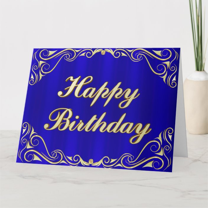 Elegant Regal Golden Typography Birthday Greeting Card | Zazzle ...