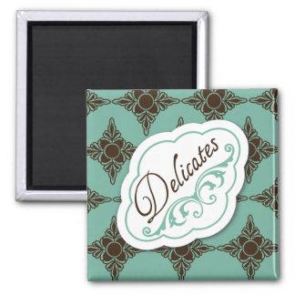 """Elegant Regards """"Delicates"""" Laundry Label Magnet"""