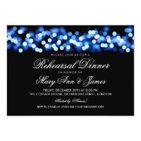 Elegant Rehearsal Dinner Blue Hollywood Glam Card (<em>$2.27</em>)