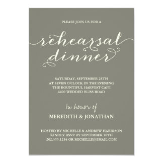 Dinner party invitations announcements zazzle elegant rehearsal dinner card stopboris Choice Image