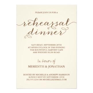Elegant Rehearsal Dinner Personalized Invitations
