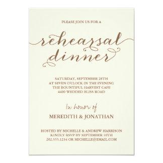 Elegant Rehearsal Dinner 5x7 Paper Invitation Card
