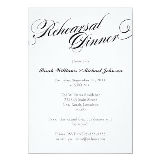Elegant Rehearsal Dinner Personalized Announcements