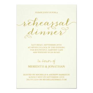 "Elegant Rehearsal Dinner 5"" X 7"" Invitation Card"