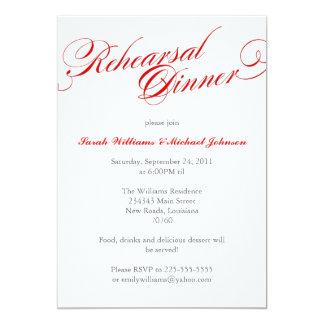 Elegant Rehearsal Dinner Personalized Announcement
