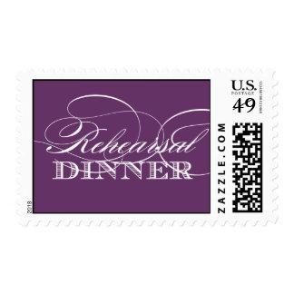 Elegant Rehearsal Dinner Postage (Purple)