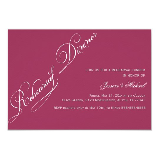 Sangria Wedding Invitations: Elegant Rehearsal Dinner Sangria Invitation