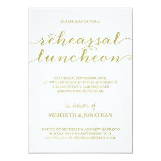 Elegant Rehearsal Luncheon Card