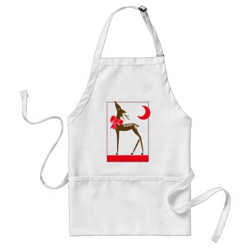 Elegant Reindeer Adult Apron