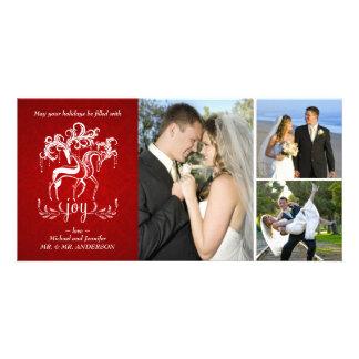 Elegant Reindeer Christmas Photo Collage Card