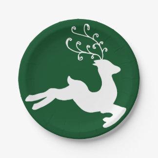 Elegant Reindeer Paper Plate