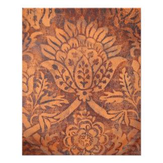"Elegant Renaissance Antique Leather Damask 4.5"" X 5.6"" Flyer"