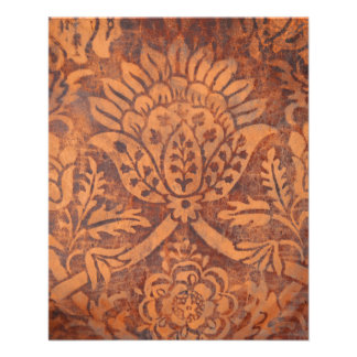 Elegant Renaissance Antique Leather Damask Flyer