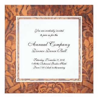 Elegant Renaissance Antique Leather Damask Invitation