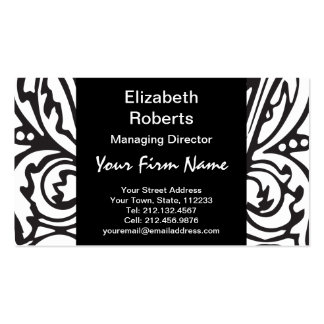 Elegant Renaissance or Medieval Monogram Letter W Business Card