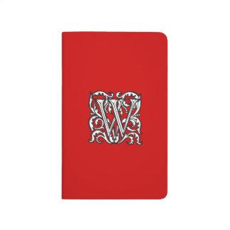 Elegant Renaissance or Medieval Monogram Letter W Journal
