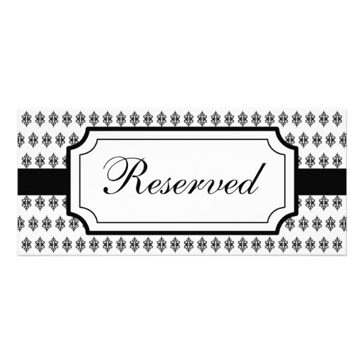Elegant Reserved Seating Card Rack Card Template : Zazzle