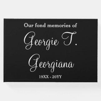 Elegant & Respectable Funeral Memorial Guestbook