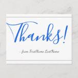 "[ Thumbnail: Elegant, Respectable ""Thanks!"" Postcard ]"