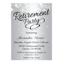 Elegant Retirement Party Invitation - Silver