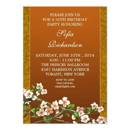 Elegant Retro Adult Birthday Party Invitations