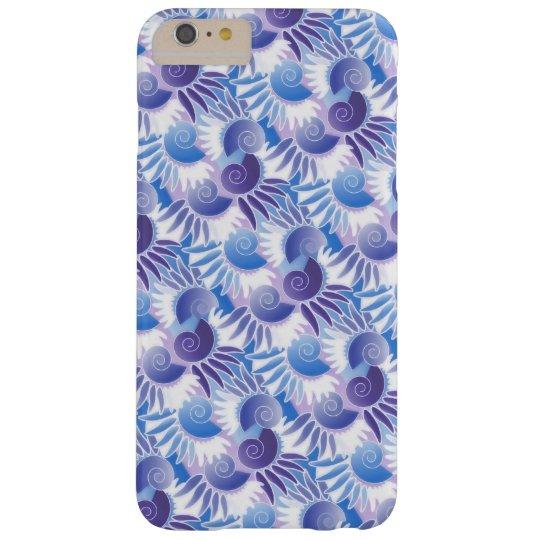 Elegant Retro Art Deco Blue Purple Modern Metro Barely There iPhone 6 Plus Case