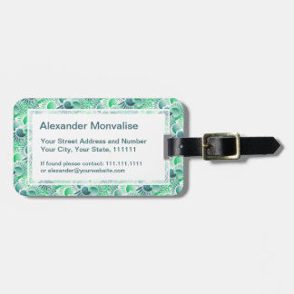 Elegant Retro Art Deco Shades of Green Jazz Age Tags For Bags