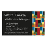 Elegant Retro Blocks Modernist Chic Double-Sided Standard Business Cards (Pack Of 100)
