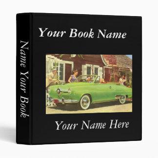 Elegant Retro Book Avery Binder