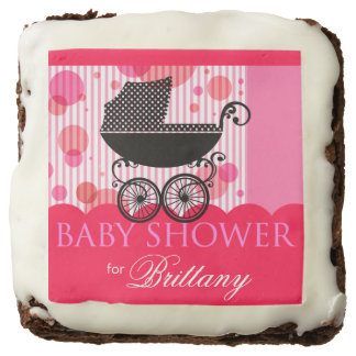 Elegant Retro Carriage Baby Shower | hot pink Brownie
