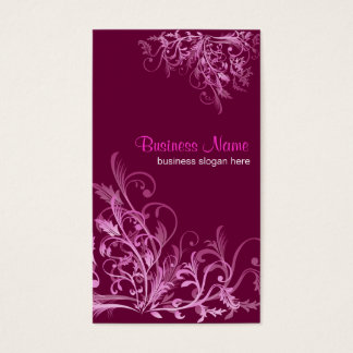 Elegant Retro Cyclam Flower Swirls 2 Business Card