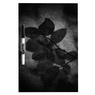 Elegant retro dark grey artistic floral photo dry erase whiteboards