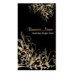 Elegant Retro Gold Flower Swirls 2 Business Card