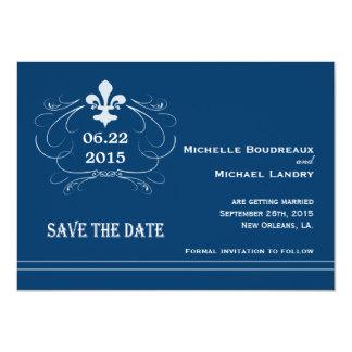 Elegant Retro Style Fleur de Lis Save the Date Custom Invites