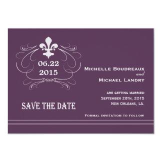 Elegant Retro Style Fleur de Lis Save the Date Custom Invitation