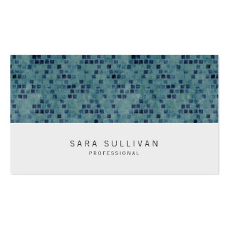 Elegant Retro Tealtiles Professional BusinessCard Double-Sided Standard Business Cards (Pack Of 100)