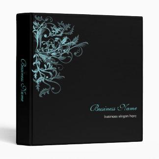 Elegant Retro Turquoise Flower Swirls 2 3 Ring Binder