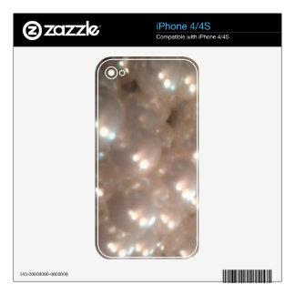 Elegant Retro Vintage Antique Pearls Jewelry Skins For iPhone 4